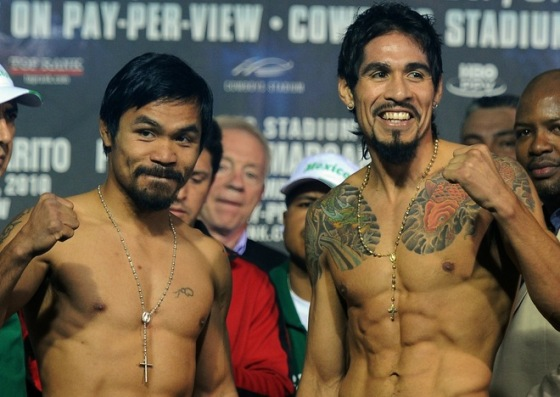 Pacquiao and Margarito weigh in