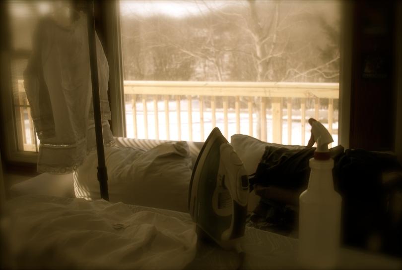 ironing chores
