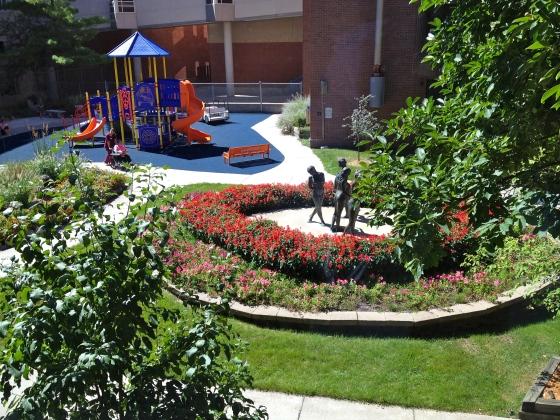 our hospital's central garden
